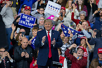 United States President Donald J. Trump arrives during a Make America Great Again campaign rally at Atlantic Aviation in Moon Township, Pennsylvania on March 10th, 2018. <br /> CAP/MPI/RS<br /> &copy;RS/MPI/Capital Pictures