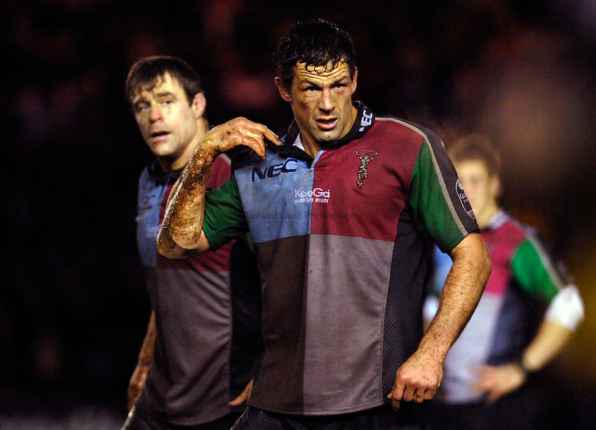 Photo: Richard Lane..NEC Harlequins v Bath Rugby. Guinness Premiership. 06/01/2007. .Quins' Andre Vos.