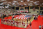 29 APR 2012:  The national anthem is peformed prior to the Division III Men's Volleyball Championship held at Blake Arena in Springfield, MA.  Springfield defeated Carthage 3-0 to win the national title.  Jessica Rinaldi/NCAA Photos