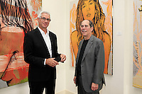 SANTA MONICA - JUN 25: Trevor Victor Harvey, Andrew Weiss at the David Bromley LA Women Art Exhibition opening reception at the Andrew Weiss Gallery on June 25, 2016 in Santa Monica, California