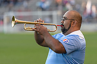 Bridgeview, IL - Saturday August 12, 2017: National Anthem performer during a regular season National Women's Soccer League (NWSL) match between the Chicago Red Stars and the Portland Thorns FC at Toyota Park. Portland won 3-2.