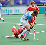 The Hague, Netherlands, June 15: Matias Paredes #10 of Argentina controls the ball during the field hockey bronze match (Men) between Argentina and England on June 15, 2014 during the World Cup 2014 at Kyocera Stadium in The Hague, Netherlands. Final score 2-0 (0-0)  (Photo by Dirk Markgraf / www.265-images.com) *** Local caption *** Matias Paredes #10 of Argentina