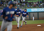 Las Vegas 51s&rsquo; Brandon Nimmo runs the bases after hitting a grand slam against the Reno Aces in Reno, Nev. on Saturday, June 3, 2017. The 51s won 9-5.<br /> Photo by Cathleen Allison/Nevada Photo Source