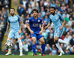 Shinji Okazaki of Leicester City in action during the English Premier League match at the Etihad Stadium, Manchester. Picture date: May 13th 2017. Pic credit should read: Simon Bellis/Sportimage