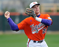Clemson's Kyle Parker warms up prior to a game between the Clemson Tigers and Mercer Bears on Feb. 24, 2008, at Doug Kingsmore Stadium in Clemson, S.C. Photo by: Tom Priddy/Four Seam Images