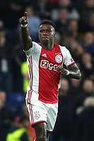 Quincy Promes celebrates scoring the first goal for Ajax during Chelsea vs AFC Ajax, UEFA Champions League Football at Stamford Bridge on 5th November 2019