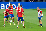 Saul Niguez, Alvaro Morata, Gerard Deulofeu and Andres Iniesta during Spain training session at Santiago Bernabeu Stadium in Madrid, Spain September 01, 2017. (ALTERPHOTOS/Borja B.Hojas)