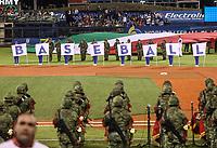 Inauguraci&oacute;n de Classic World Ba con baseball con la presencia del ejercito mexicano y la bandera de Italia. <br /> Aspectos del partido Mexico vs Italia, durante Cl&aacute;sico Mundial de Beisbol en el Estadio de Charros de Jalisco.<br /> Guadalajara Jalisco a 9 Marzo 2017 <br /> Luis Gutierrez/NortePhoto.com