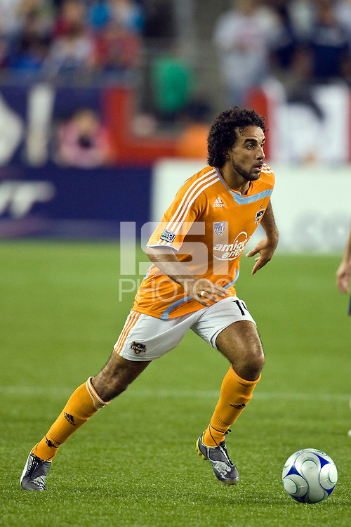 Houston Dynamo forward Dwayne De Rosario (14). The New England Revolution defeated the Houston Dynamo 2-2 (6-5) in penalty kicks in the SuperLiga finals at Gillette Stadium in Foxborough, MA, on August 5, 2008.