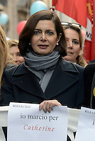 Roma, 29 Novembre 2015<br /> Laura Boldrini in testa alla manifestazione.<br /> Marcia per il clima, in contemporanea con il summit Cop 21 a Parigi.<br /> Rome Italy, 29th November 2015<br /> To coincide with the Paris United Nations Climate summit this weekend an similar marches being held across the world, ten of thousands have taken to the streets of Rome to demand action on Climate change