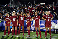 Cary, North Carolina  - Friday November 30, 2018: Stanford vs Florida State at Sahlen's Stadium at WakeMed Soccer Park in a 2018 NCAA Women's College Semifinal.