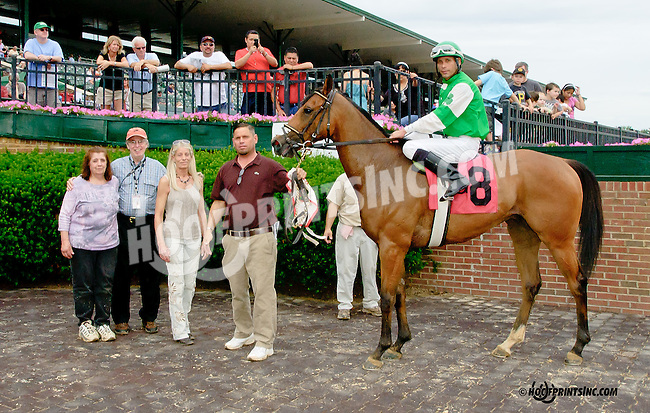 Idle Spur winning at Delaware Park racetrack on 6/21/14