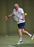 Hilversum, The Netherlands, 05.03.2014. NOVK ,Nat.Indoor Veterans Championships of 2014, Marcel Boerma (NED)<br /> Photo:Tennisimages/Henk Koster