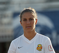 Western New York Flash midfielder Carli Lloyd (10). In a National Women's Soccer League Elite (NWSL) match, the Boston Breakers (blue) tied Western New York Flash (white), 2-2, at Dilboy Stadium on June 5, 2013.