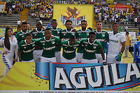 NEIVA -HUILA-COLOMBIA, 24-07-2016. Formación del Cali contra Huila.Acción de juego entre el Huila y el Cali   durante encuentro  por la fecha 5 de la Liga Aguila II 2016 disputado en el estadio Guillermo Plazas Alcid./ Team of Cali agaisnt Huila.Actions game between Huila and Cali  during match for the date 5 of the Aguila League II 2016 played at Guillermo Plazas Alcid  stadium . Photo:VizzorImage / Sergio Reyes  / Contribuidor