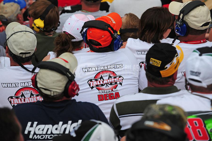 Apr 27, 2008; Talladega, AL, USA; NASCAR Sprint Cup Series fans watch the race during the Aarons 499 at Talladega Superspeedway. Mandatory Credit: Mark J. Rebilas-