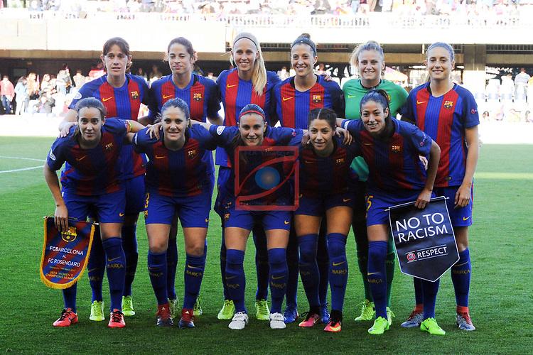 UEFA Women's Champions League 2016/2017.<br /> Quarter Finals.<br /> FC Barcelona vs FC Rosengard: 2-0.