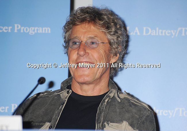 LOS ANGELES, CA - NOVEMBER 04: Roger Daltrey attends   .The UCLA Daltrey/Townshend Teen And Young Adult Cancer Program Dedication at Ronald Reagan UCLA Medical Center on November 4, 2011 in Los Angeles, California..