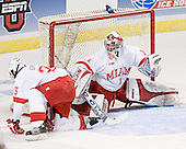 Andy Greene, Charlie Effinger - The Boston College Eagles defeated the Miami University Redhawks 5-0 in their Northeast Regional Semi-Final matchup on Friday, March 24, 2006, at the DCU Center in Worcester, MA.