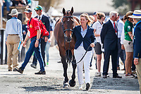 BEL-Karin Donckers presents Fletcha Van't Verahof during the First Horse Inspection for the FEI World Team and Individual Eventing Championship. 2018 FEI World Equestrian Games Tryon. Wednesday 12 September. Copyright Photo: Libby Law Photography