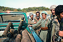 Iran 1979.Transport of shells in a van