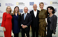 "LONDON, UK - DECEMBER 11: Deborah Armstrong, Lindsay Firestone, Michael Bloomberg, Jon Kamen, Antha Williams and Katherine Oliver attend the London Premiere of Bloomberg and National Geographic's ""Paris to Pittsburgh"" at the BAFTA Theatre on December 11, 2018 in London, UK. (Photo by Vianney Le Caer/National Geographic/PictureGroup)"