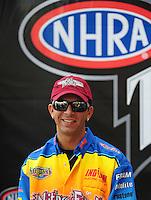 Nov. 2, 2008; Las Vegas, NV, USA: NHRA pro stock driver Richie Stevens during the Las Vegas Nationals at The Strip in Las Vegas. Mandatory Credit: Mark J. Rebilas-