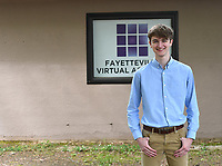 "Hunter ""Hutch"" Bailey seen here April 29, 2020, is a senior at the Fayetteville Virtual Academy. (NWA Democrat-Gazette/J.T. Wampler)"