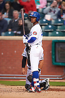 Chattanooga Lookouts outfielder Byron Buxton (7) at bat during a game against the Jacksonville Suns on April 30, 2015 at AT&T Field in Chattanooga, Tennessee.  Jacksonville defeated Chattanooga 6-4.  (Mike Janes/Four Seam Images)