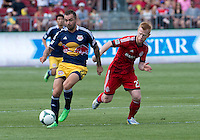 20 July 2013: New York Red Bulls midfielder Jonny Steele #22 and Toronto FC defender Richard Eckersley #27 in action during an MLS regular season game between the New York Red Bulls and Toronto FC at BMO Field in Toronto, Ontario Canada.<br /> The game ended in a 0-0 draw.