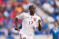 Trinidad and Tobago defender Justin Hoyte (17) during a CONCACAF Gold Cup group B match at Red Bull Arena in Harrison, NJ, on July 8, 2013.