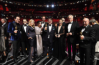 Paul Denham Austerberry, guest, Faye Dunaway, Sally Hawkins, Doug Jones, Guillermo del Toro, guest, Warren Beatty and J. Miles Dale pose on stage during The 90th Oscars&reg; at the Dolby&reg; Theatre in Hollywood, CA on Sunday, March 4, 2018.<br /> *Editorial Use Only*<br /> CAP/PLF/AMPAS<br /> Supplied by Capital Pictures