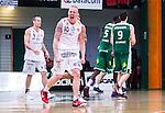 S&ouml;dert&auml;lje 2014-04-15 Basket SM-Semifinal 5 S&ouml;dert&auml;lje Kings - Uppsala Basket :  <br /> Uppsalas Axel Nordstr&ouml;m jublar efter att ha gjort po&auml;ng f&ouml;r Uppsala Basket <br /> (Foto: Kenta J&ouml;nsson) Nyckelord:  S&ouml;dert&auml;lje Kings SBBK Uppsala Basket SM Semifinal Semi T&auml;ljehallen jubel gl&auml;dje lycka glad happy