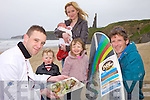 SURF'S UP: Preparing for the new Surf & Turf Festival in Ballybunion on the May Bank Holiday Weekend, l-r: Edward Hanrahan (Hanrahan's Country Kitchen) with Brody, Summer, Daisy, Amy and Mark Mulvihill.
