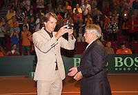 14-sept.-2013,Netherlands, Groningen,  Martini Plaza, Tennis, DavisCup Netherlands-Austria, Doubles,   ITF award for Paul Haarhuis<br /> Photo: Henk Koster