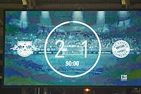 Anzeigetafel, Screen, Screenboard, digital, LED, <br /> RB LEIPZIG - FC BAYERN MUENCHEN  2-1<br /> Football 1. Bundesliga , Leipzig,18.03.2018, 27. match day,  2017/2018, , Red Bull, Bullen, <br />  *** Local Caption *** © pixathlon