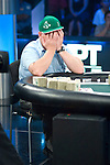 Dan Harrington ponds making a call, he does and wins a big pot heads up.