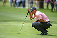 Tiger Woods (USA) lines up his putt on 11 during round 2 of the World Golf Championships, Mexico, Club De Golf Chapultepec, Mexico City, Mexico. 2/22/2019.<br /> Picture: Golffile | Ken Murray<br /> <br /> <br /> All photo usage must carry mandatory copyright credit (© Golffile | Ken Murray)