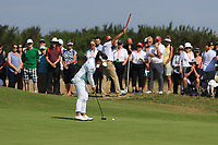 Moriya Jutanugarn (THA) on the 2nd green during Round 4 of the Ricoh Women's British Open at Royal Lytham &amp; St. Annes on Sunday 5th August 2018.<br /> Picture:  Thos Caffrey / Golffile<br /> <br /> All photo usage must carry mandatory copyright credit (&copy; Golffile | Thos Caffrey)
