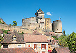 The Château de Castelnaud, located on the Dordogne River, was held by English forces during most of the Hundred Years' War.