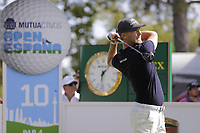 Niklas Lemke (SWE) on the 10th tee during the second round of the Mutuactivos Open de Espana, Club de Campo Villa de Madrid, Madrid, Madrid, Spain. 04/10/2019.<br /> Picture Hugo Alcalde / Golffile.ie<br /> <br /> All photo usage must carry mandatory copyright credit (© Golffile | Hugo Alcalde)