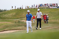 Gary Stal (FRA) leads the way down the 16th during Round Three of the 2015 Alstom Open de France, played at Le Golf National, Saint-Quentin-En-Yvelines, Paris, France. /04/07/2015/. Picture: Golffile | David Lloyd<br /> <br /> All photos usage must carry mandatory copyright credit (© Golffile | David Lloyd)