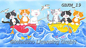 Kate, CUTE ANIMALS, LUSTIGE TIERE, ANIMALITOS DIVERTIDOS, paintings+++++ALL AT SEA CATS,GBKM19,#ac#, EVERYDAY ,cat,cats ,puzzle,puzzles