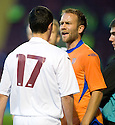 05/08/2010   Copyright  Pic : James Stewart.sct_jsp025_Motherwell_v_Aalesund  .::  MARC FITZPATRICK AND TROND FREDRIKSEN SQUARE UP AFTER A CLASH ON THE TOUCH LINE ::  .James Stewart Photography 19 Carronlea Drive, Falkirk. FK2 8DN      Vat Reg No. 607 6932 25.Telephone      : +44 (0)1324 570291 .Mobile              : +44 (0)7721 416997.E-mail  :  jim@jspa.co.uk.If you require further information then contact Jim Stewart on any of the numbers above.........