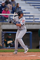Lake County Captains right fielder Ruben Cardenas (4) during a Midwest League game against the Beloit Snappers at Pohlman Field on May 6, 2019 in Beloit, Wisconsin. Lake County defeated Beloit 9-1. (Zachary Lucy/Four Seam Images)