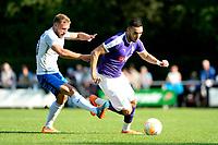 NORG - Voetbal, FC Groningen - SV Meppen, voorbereiding seizoen 2018-2019, 13-07-2018, FC Groningen speler Mimoun Mahi met Janik Jesgarzewski