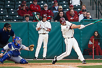 Strike one Brett Eibner (24);March 10th, 2010; South Dakata State University vs Arkansas Razorbacks at Baum Stadium in Fayetteville Arkansas. Photo by: William Purnell/Four Seam Images