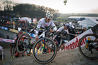 later winner Mathieu Van der Poel (NED/Alpecin Fenix) <br /> <br /> Men Elite Race<br /> UCI Cyclocross Worldcup – Hoogerheide (Netherlands)<br /> <br /> ©kramon