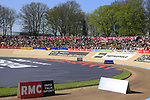 Packed stands await the riders at the old Velodrome in Roubaix at the  end of the 115th edition of the Paris-Roubaix 2017 race running 257km Compiegne to Roubaix, France. 9th April 2017.<br /> Picture: Eoin Clarke | Cyclefile<br /> <br /> <br /> All photos usage must carry mandatory copyright credit (&copy; Cyclefile | Eoin Clarke)