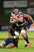 Sam Henwood. Mitre 10 Cup game between Counties Manukau Steelers and Tasman Mako's, played at ECOLight Stadium Pukekohe on Saturday October 14th 2017. Counties Manukau won the game 52 - 30 after trailing 22 - 19 at halftime. <br /> Photo by Richard Spranger.